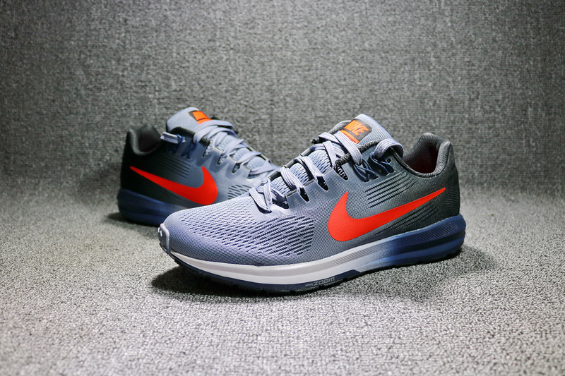 ... Top Quality Nike Air Zoom Structure 21 Blue Grey Orange 904695 406 Men's  Sport Running Shoes ...