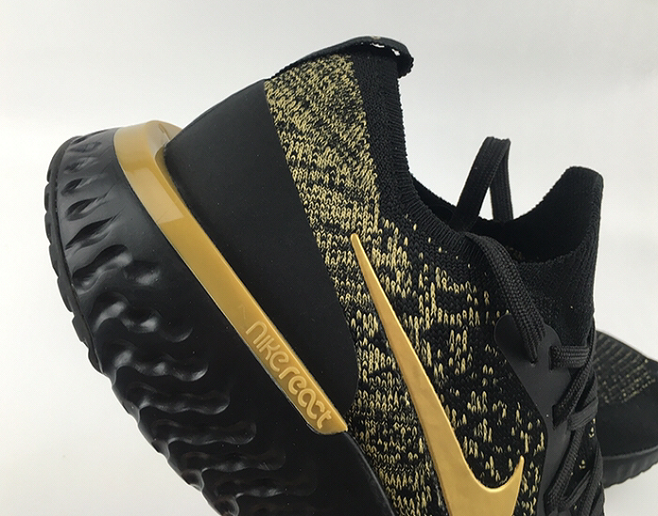 5652515b008b ... Beautiful Design Nike Free RN Flyknit Black Gold Men s Sport Running  Shoes ...