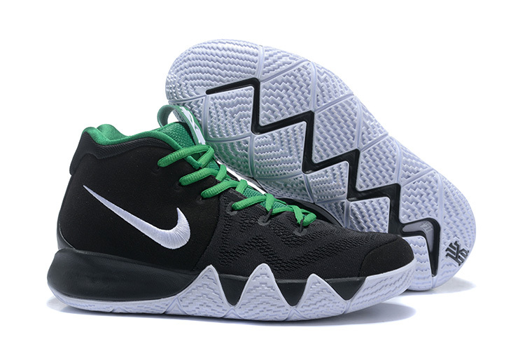 6412d5ad3d47 Free Shipping Nike Kyrie 4 EP Black White Green Men u0027s Basketball