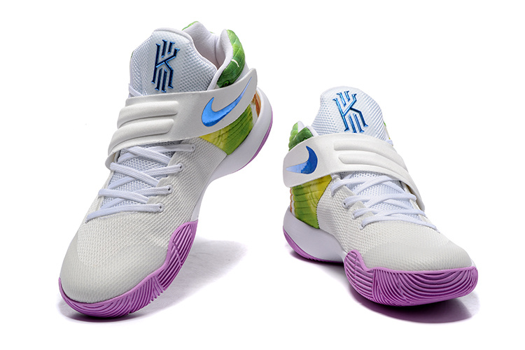 High-end Product Nike Kyrie 2 Xmas Blue Purple White Green Men s Basketball  Shoes ... c9324de5fb42