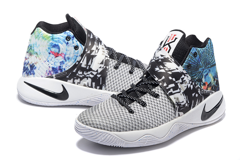 975b71b8c28 ... New Style Nike Kyrie 2 Xmas Black White Colorful Unisex Basketball Shoes  ...