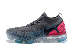 7ac1b0ea0ec7e Free Shipping Nike Air VaporMax Flyknit 2018 V2 TPU Grey Blue Pink Women s  Running Shoes