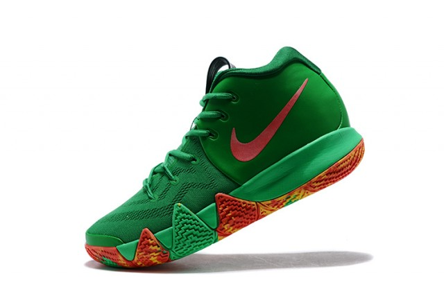 90bb8c78610 Skillful Manufacture Nike Kyrie 4 EP Green Red Men s Basketball ...