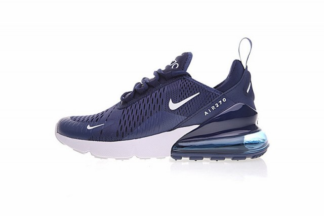 Impeccable Nike Air Max 270 Blue White AH8050 410 Men s Sport ... 0808b9460