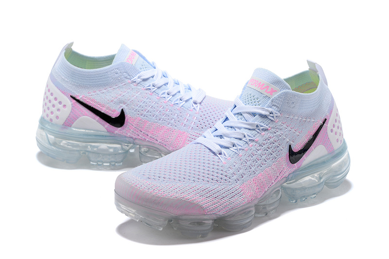 b674c63e91ee ... Have Personality Nike Air VaporMax Flyknit 2018 V2 TPU White Pink Black  Women s Running Shoes ...