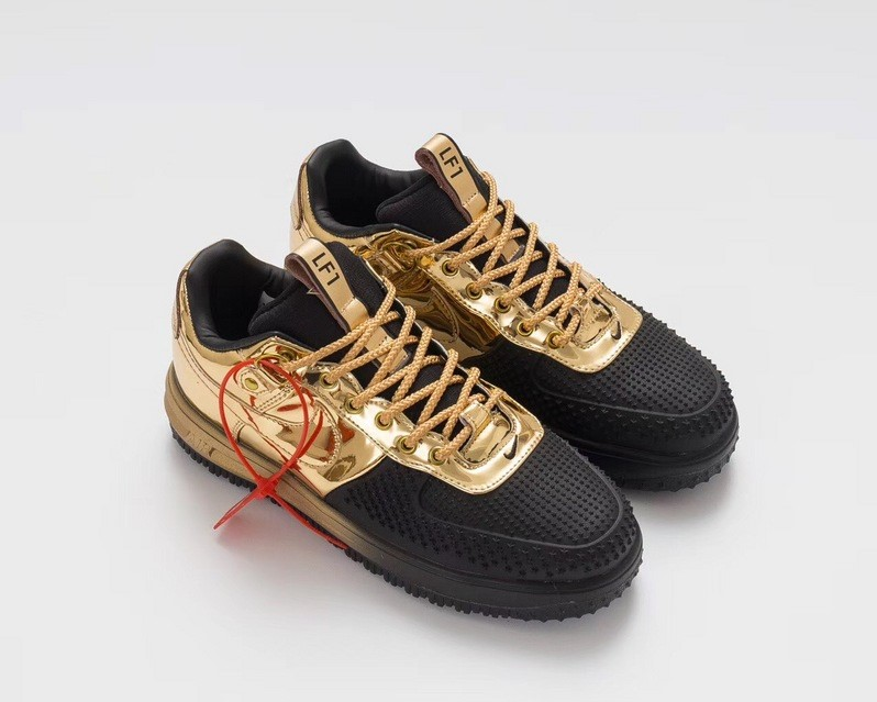 buy popular bfff9 925ad ... New Style Nike Lunar Force 1 Duckboot Low Black Gold 805899 707 Unisex  Casual Shoes