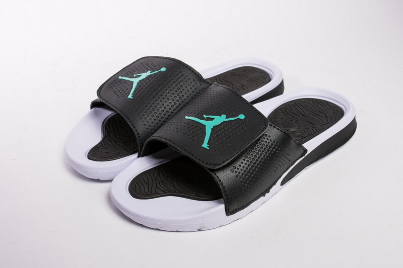 cce37e08f01052 ... Advanced Design Nike Air Jordan Hydro 5 White Black Mint Green 820258  013 Men s Slippers ...