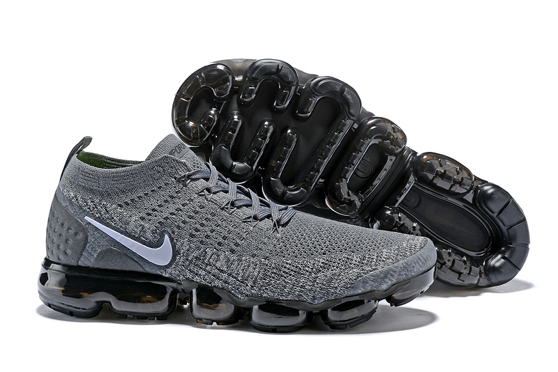 ... Impeccable Nike Air VaporMax Flyknit 2018 V2 TPU Grey White Men s  Running Shoes a28dd153a