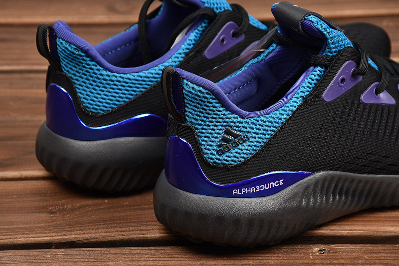 ... Attractive Adidas AlphaBounce Black Blue Purple CQ0304 Men s Running  Shoes ... f327f8ced