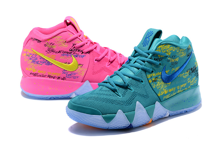 a043830000e ... New Pattern Nike Kyrie 4 EP Green Blue Pink Yellow Men s Basketball  Shoes ...