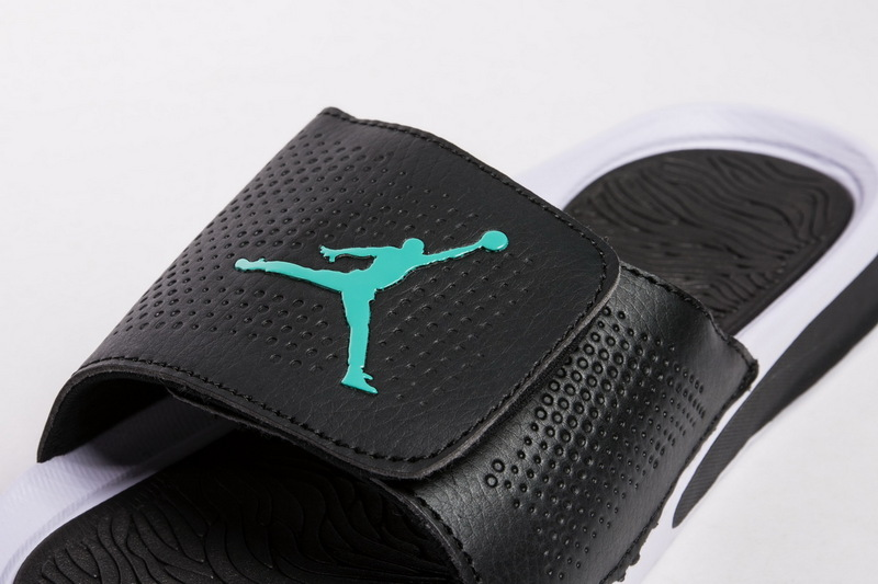 8d2de396455cc3 Advanced Design Nike Air Jordan Hydro 5 White Black Mint Green 820258 013  Men s Slippers ...