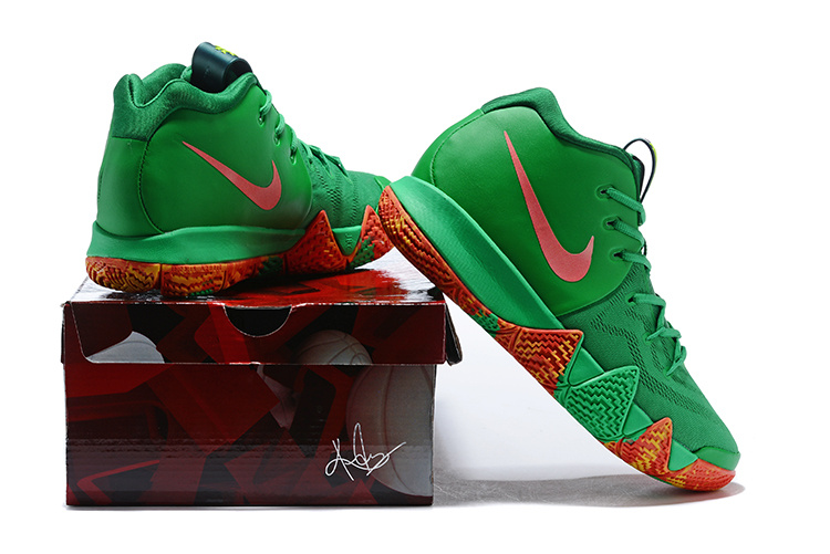 5c651a8bdfb ... Skillful Manufacture Nike Kyrie 4 EP Green Red Men s Basketball Shoes