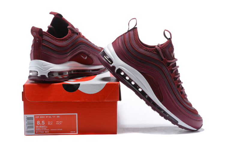 b550dd8b0aed ... Advanced Design Nike Air Max 97 Ultra SE Wine Red 917704 903 Men s  Running Shoes