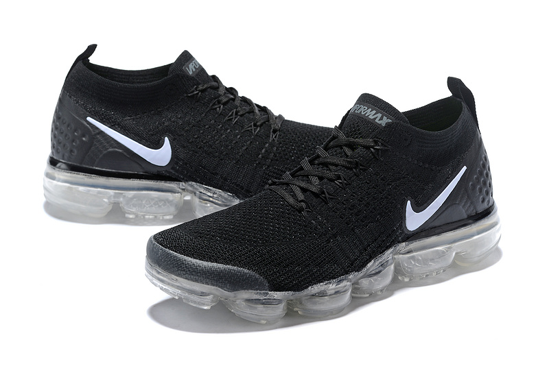 huge discount 22d78 d7df7 ... High Quality Nike Air VaporMax Flyknit 2018 V2 TPU Black White Unisex  Running Shoes ...
