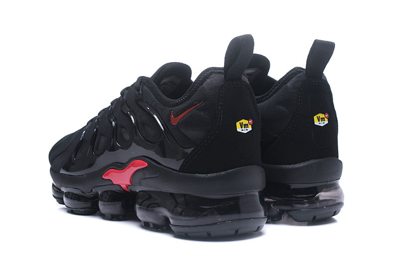 ... Newest Nike Vapormax Plus Black Red Men's Running Shoes ...