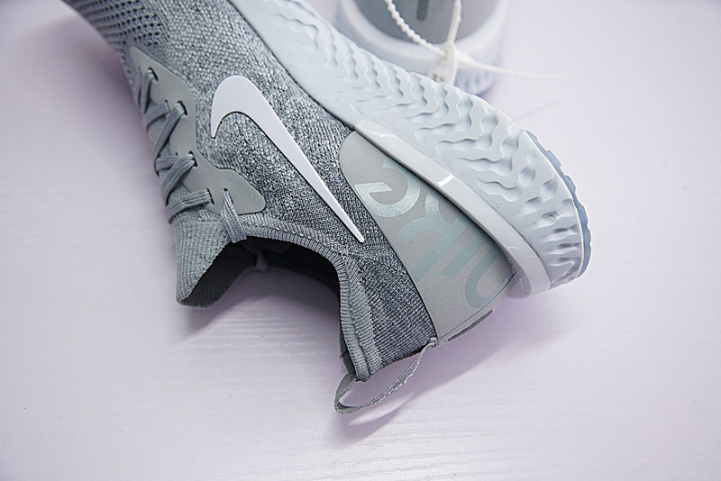 f47394f6949 ... Sophisticated Technology Nike Epic React Flyknit Grey White AQ0070 002  Unisex Running Shoes ...