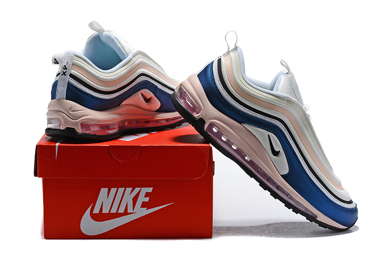 835c3d6060 ... Have Personality Nike Air Max 97 Ultra SE White Pink Black Blue Women's Running  Shoes