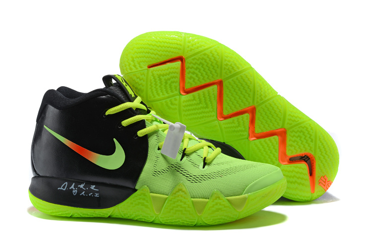 ... High Quality Nike Kyrie 4 EP Black Green Men's Basketball Shoes ...