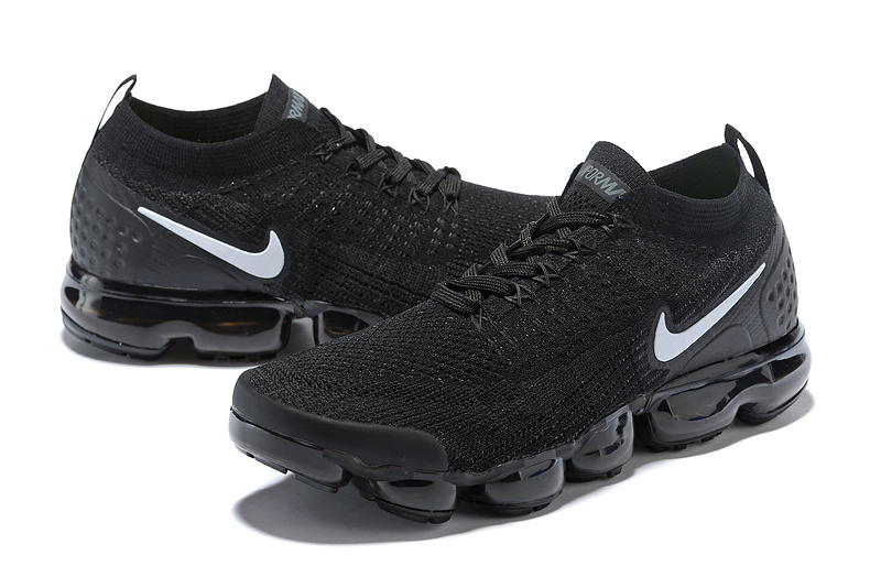 new style 61139 195f7 ... Sophisticated Technology Nike Air VaporMax Flyknit 2018 V2 TPU Black  White Unisex Running Shoes ...