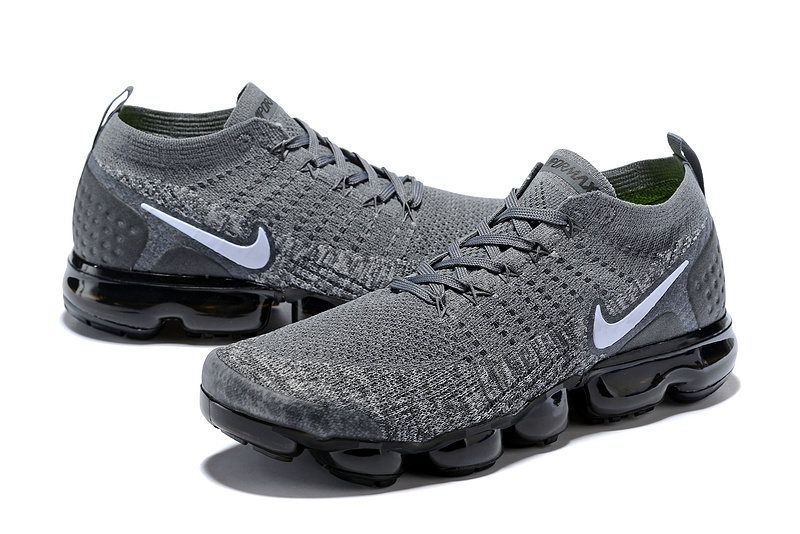 ... Impeccable Nike Air VaporMax Flyknit 2018 V2 TPU Grey White Men s  Running Shoes ... 57937aeb4