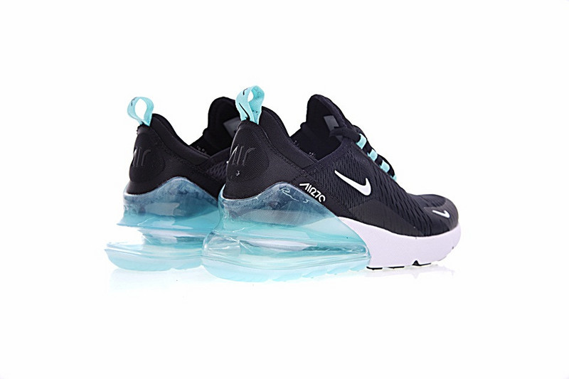 8458a03cb271d ... Zero Defect Nike Air Max 270 Black White Blue AH8050 013 Women's  Running Shoes ...