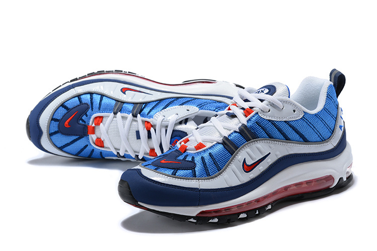 b2d883036d ... Beautiful Design Nike Air Max 98 Supreme Blue Red White 640744 064  Men's Running Shoes ...