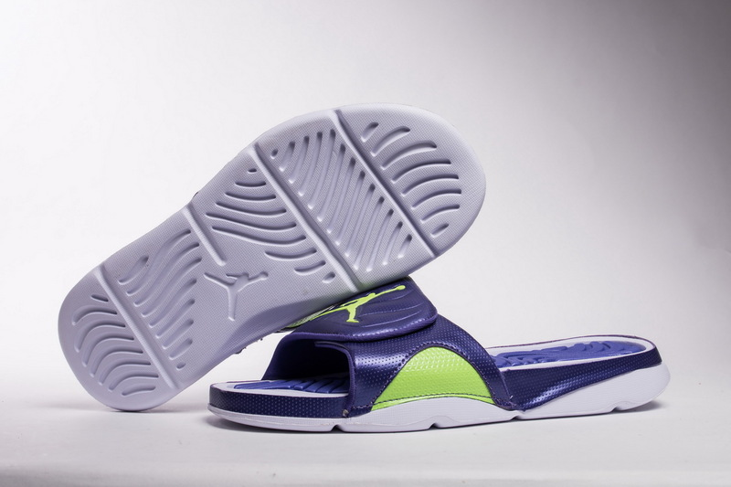 1547ccf80376c8 ... Impeccable Nike Air Jordan Hydro 4 White Purple Green 705163 012 Men s  Slippers