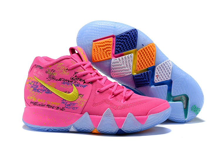 6b16bbb7c92 ... New Pattern Nike Kyrie 4 EP Green Blue Pink Yellow Men s Basketball  Shoes ...