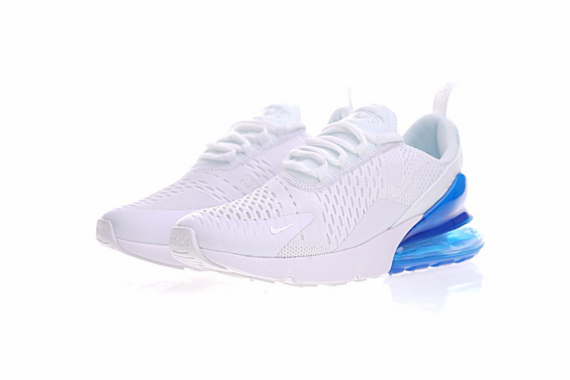 ff1f18205454 Exquisite Nike Air Max 270 White Blue AH8050 100 Women s Sport Running Shoes  Sneakers ...