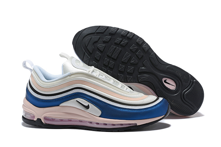 ... Have Personality Nike Air Max 97 Ultra SE White Pink Black Blue Women's  Running Shoes ...