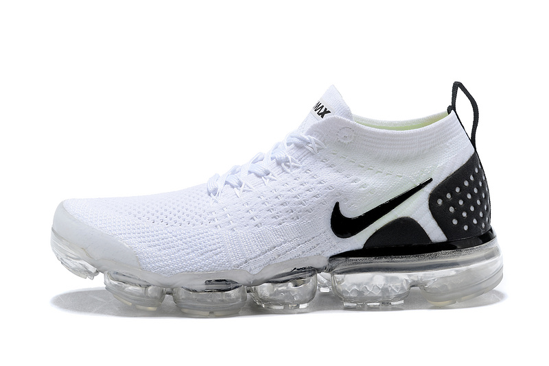 new products f5186 86c4a Skillful Manufacture Nike Air VaporMax Flyknit 2018 V2 TPU White Black  Men u0027s .