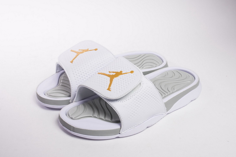 fd48f5eb2791 ... Deft Design Nike Air Jordan Hydro 5 White Gold 820258 133 Unisex  Slippers ...