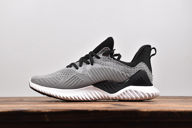 b70473bed Sophisticated Technology Adidas AlphaBounce Grey Black DB1126 Men s Running  ...