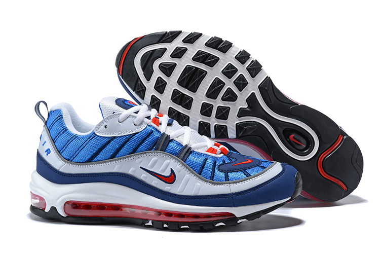 02e50e894ab ... Beautiful Design Nike Air Max 98 Supreme Blue Red White 640744 064 Men s  Running Shoes ...