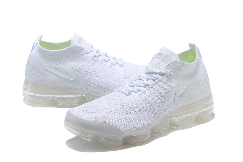 online store afaf3 6d143 ... Beautiful Design Nike Air VaporMax Flyknit 2018 V2 TPU White Men s  Running Shoes ...