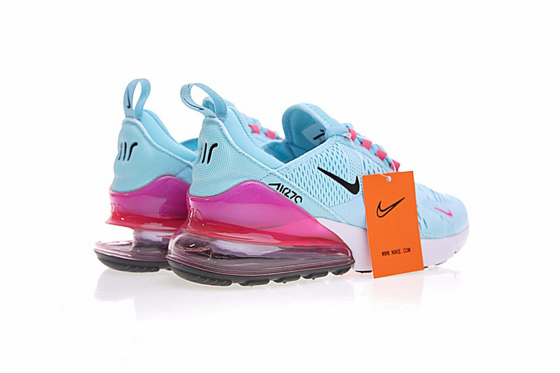 d34c170c56 ... Dependable Performance Nike Air Max 270 Blue Pink Black White AH8050  600 Women's Sport Running Shoes ...