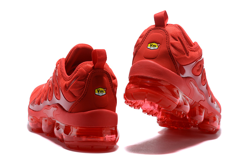 57a6d7a83a6 ... Zero Defect Nike Air VaporMax Plus Red Unisex Running Shoes ...