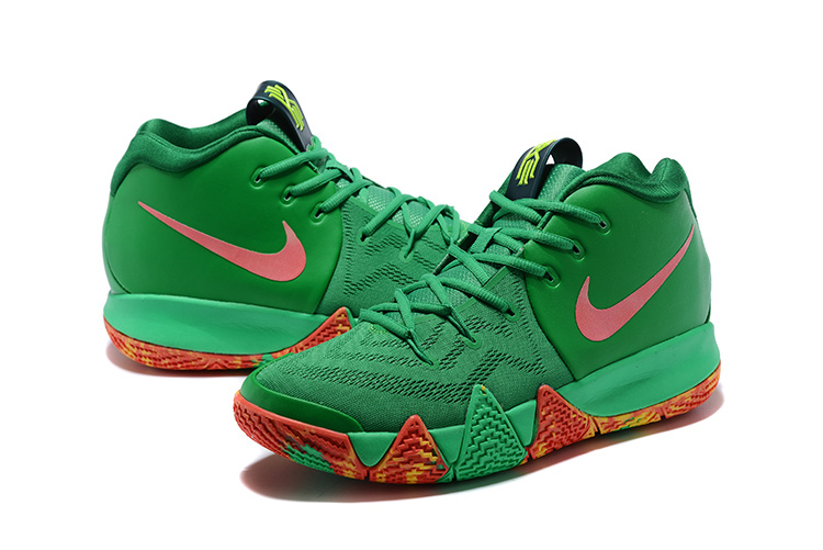 2ed55652563 ... Skillful Manufacture Nike Kyrie 4 EP Green Red Men s Basketball Shoes  ...