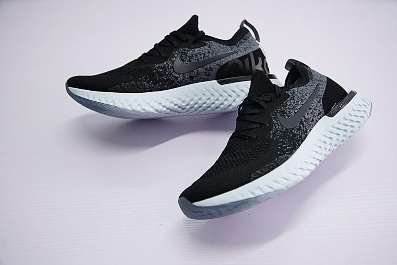 3c1a6bf313987 ... Skillful Manufacture High Quality Nike Epic React Flyknit Black Grey White  AQ0067 001 Unisex Running Shoes ...
