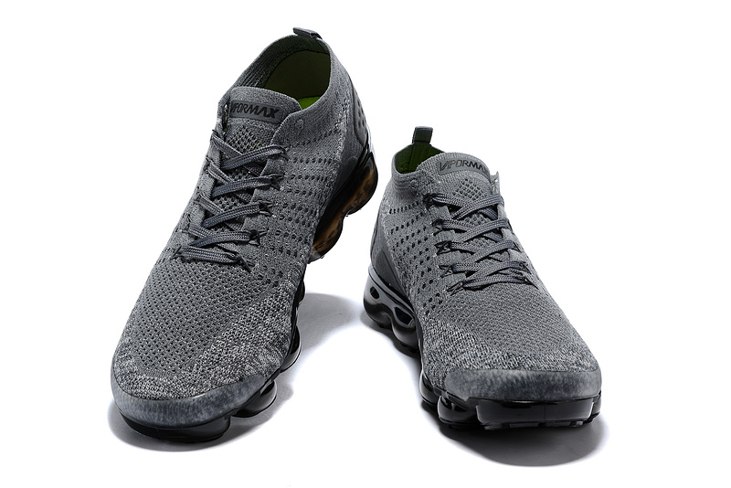 Impeccable Nike Air VaporMax Flyknit 2018 V2 TPU Grey White Men s Running  Shoes ... f8d57c591