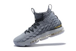dbda69dba94 Of Quality Nike LeBron XV James 15 Gray Black Gold Men s Basketball Shoes