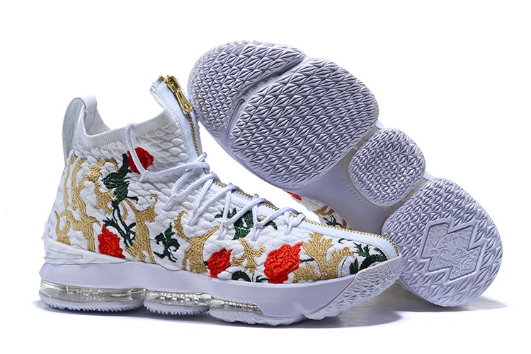 d01e767257ad85 ... Newest Nike LeBron XV James 15 Flower Edition Men s Basketball Shoes ...