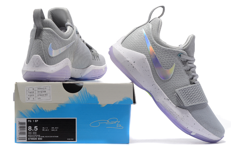 872bfe47020 ... Advanced Design Nike Paul George PG 1 Gray Men s Basketball Shoes ...