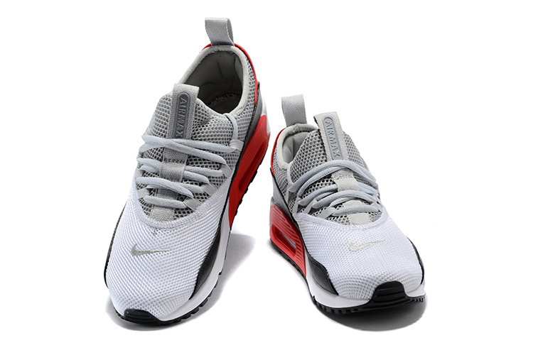 timeless design 752c7 fb7be ... Attractive Nike Air Max 90 Ez Wolf Gray Black Light Dark Red Gray Men s  Running Shoes ...