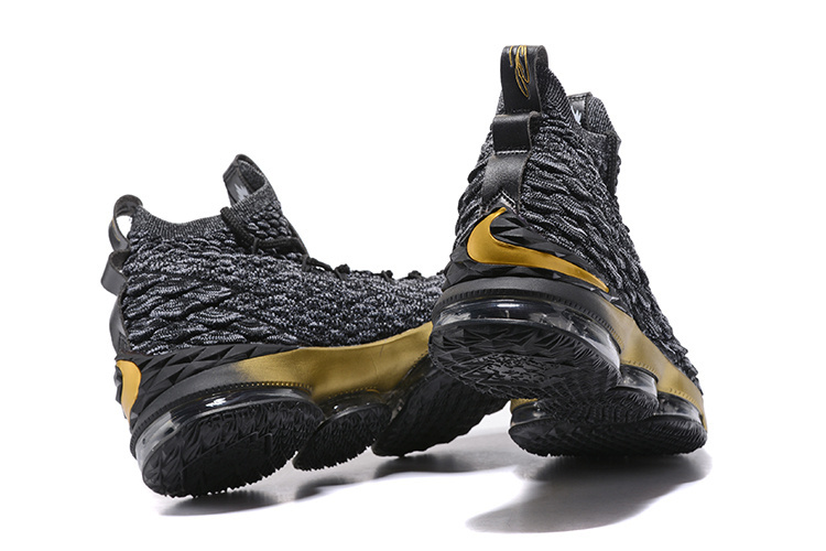 0a63f0237763 ... New Style Nike LeBron XV James 15th Black Gold Men s Basketball Shoes