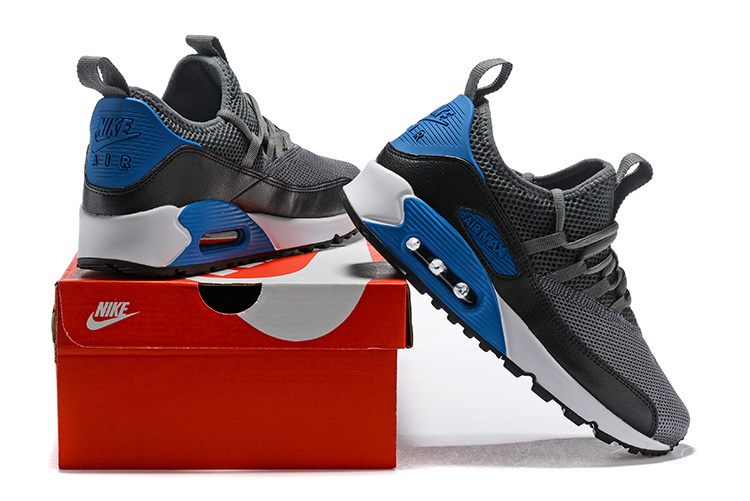 best website 16c4b b64bc ... Zero Defect Nike Air Max 90 Ez Wolf Gray Laser Blue Cold Gray Men s  Running Shoes ...