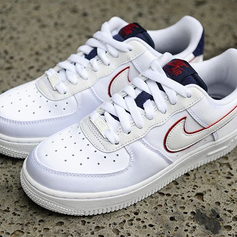 d62a47032309d Nike Air Force 1 07 Velvet Cotton Dark Blue Red AA0287-103 Unisex Casual  Shoes ...