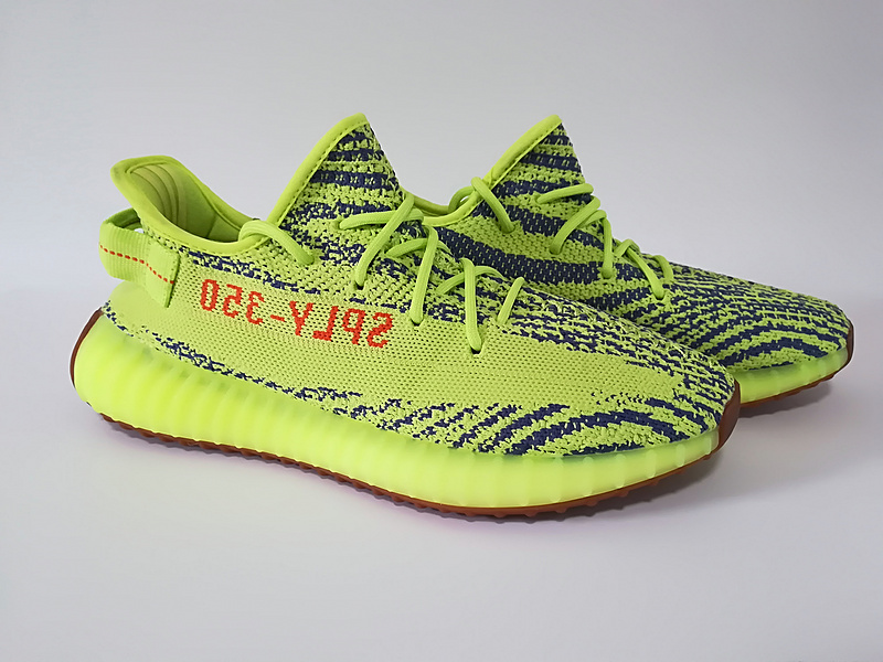 75592fbb65149 Adidas Yeezy Boost 350 V2 Yellow Zebra Unisex Running Shoes ...