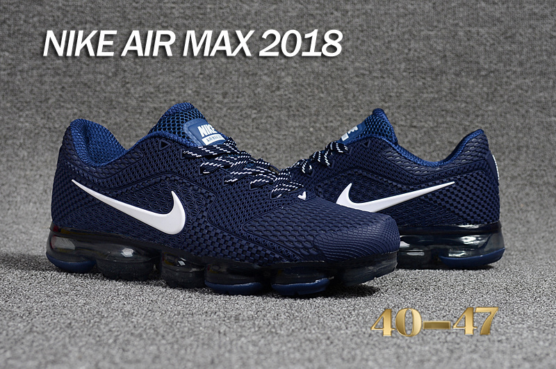 6db45a75b75 ... Nike Air VaporMax 2018 5 Generation Dark Blue White Men s Running Shoes  ...