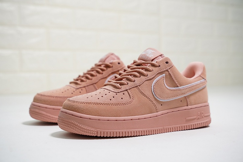 online retailer fb138 e085b ... authentic nike air force 1 07 lv8 suede ruffled nude orange aa1117 601  womens casual shoes